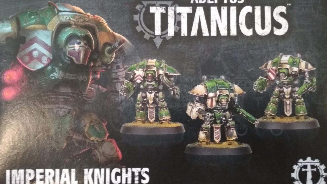 Tamaño Imperial Knight Adeptus Titanicus