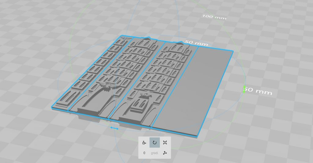 Diseño de las paredes en 3d Builder para Adeptus Titanicus