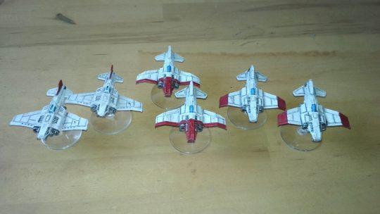 3D printed 6mm army: Space Marines. Aeronaves
