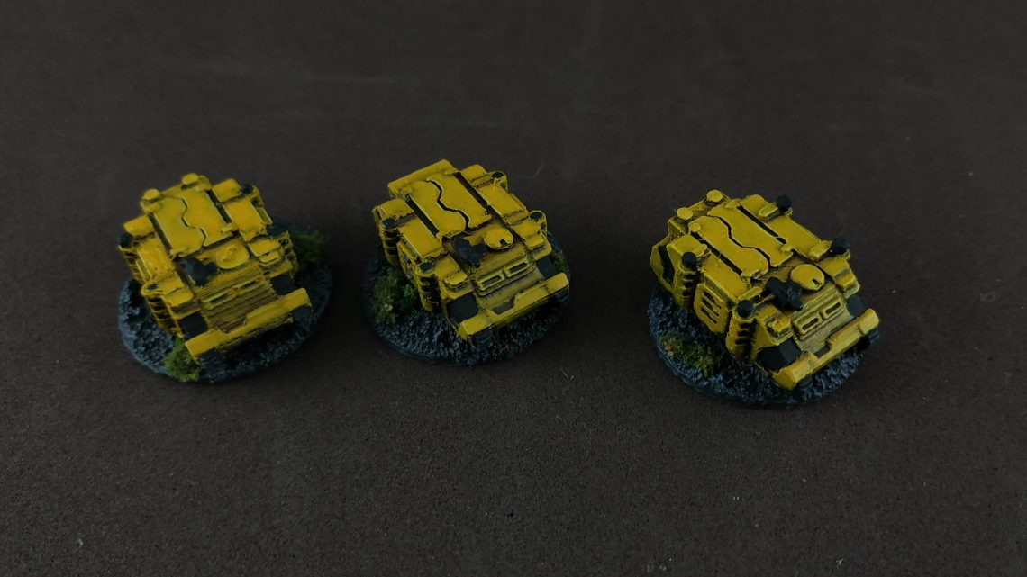 3D printed 6mm army: Space Marines. Transportes
