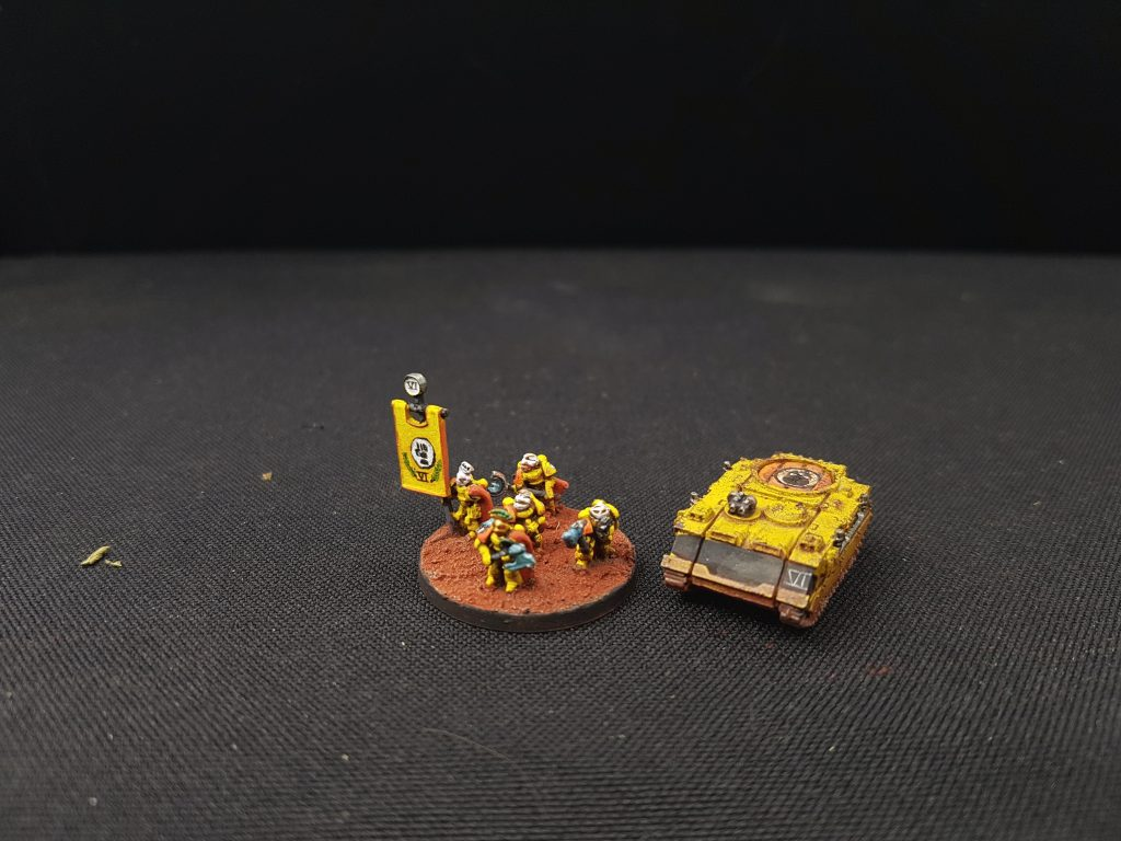 Epic Space Marine Imperial Fist HQ