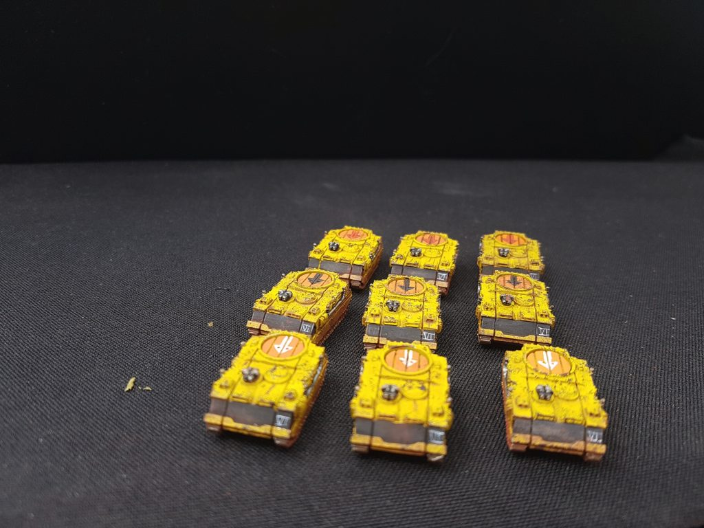 Rhino Transport Epic Space Marine Imperial Fist Vanguard Miniatures