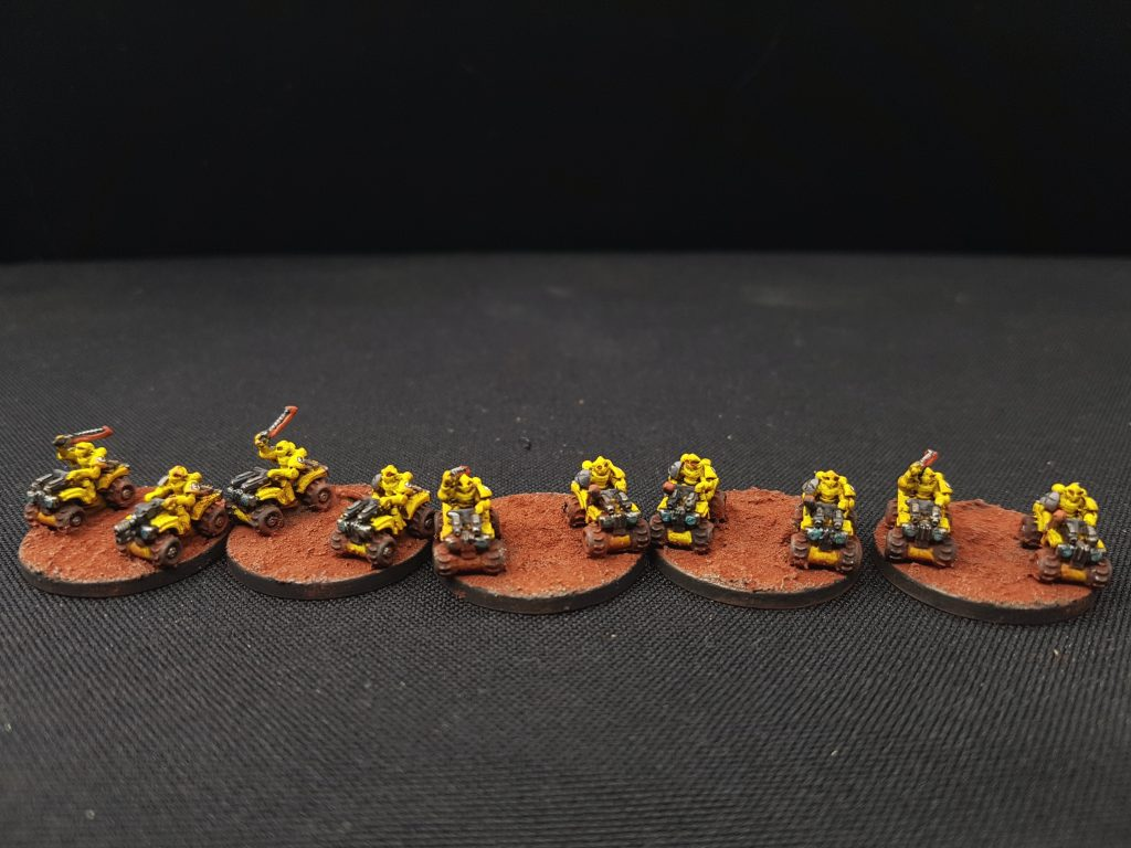 Bike Squadron Epic Space Marine Imperial Fist Vanguard Miniatures