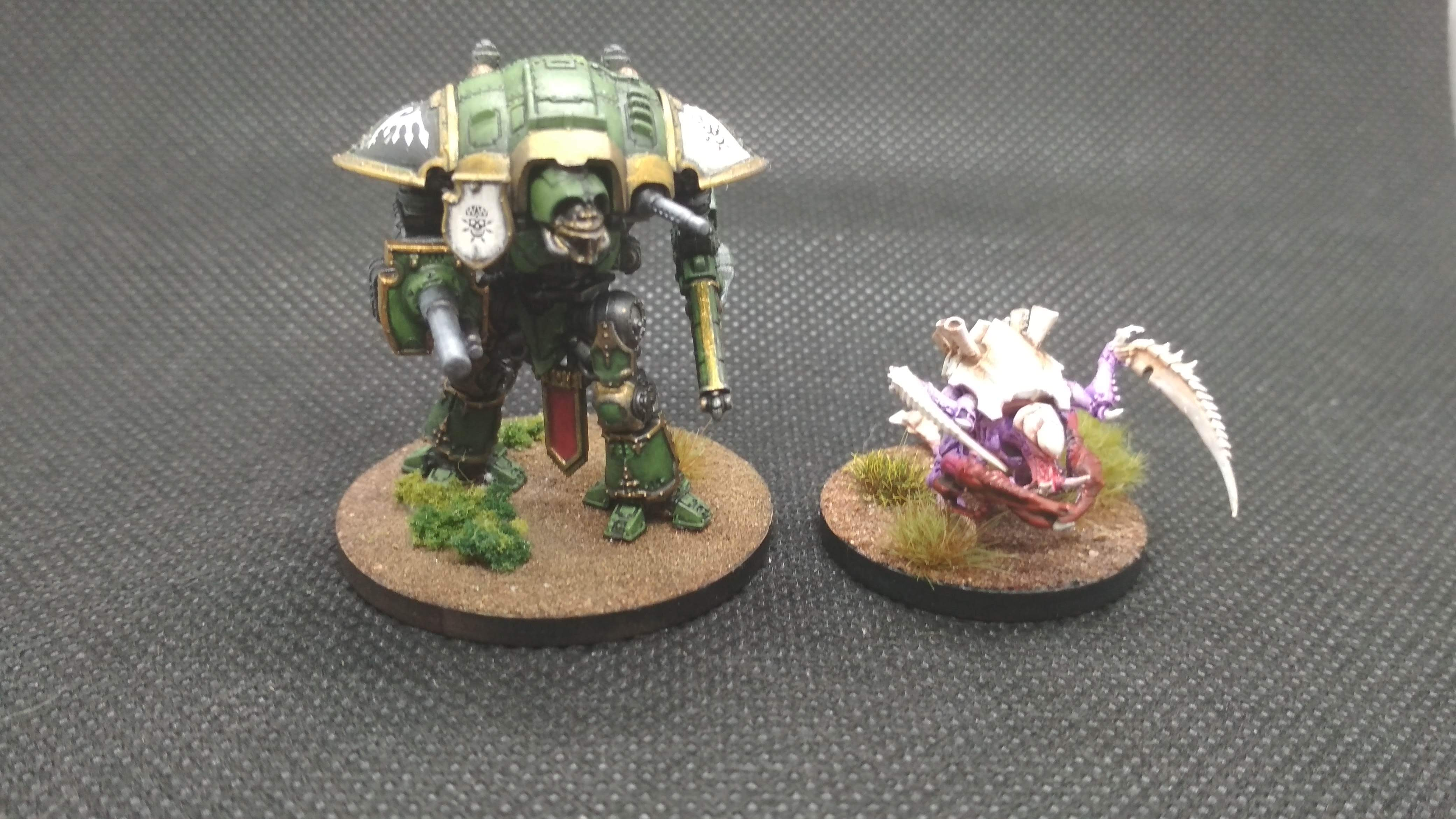 Imperial knight carnifex size comparison Adeptus titanicus