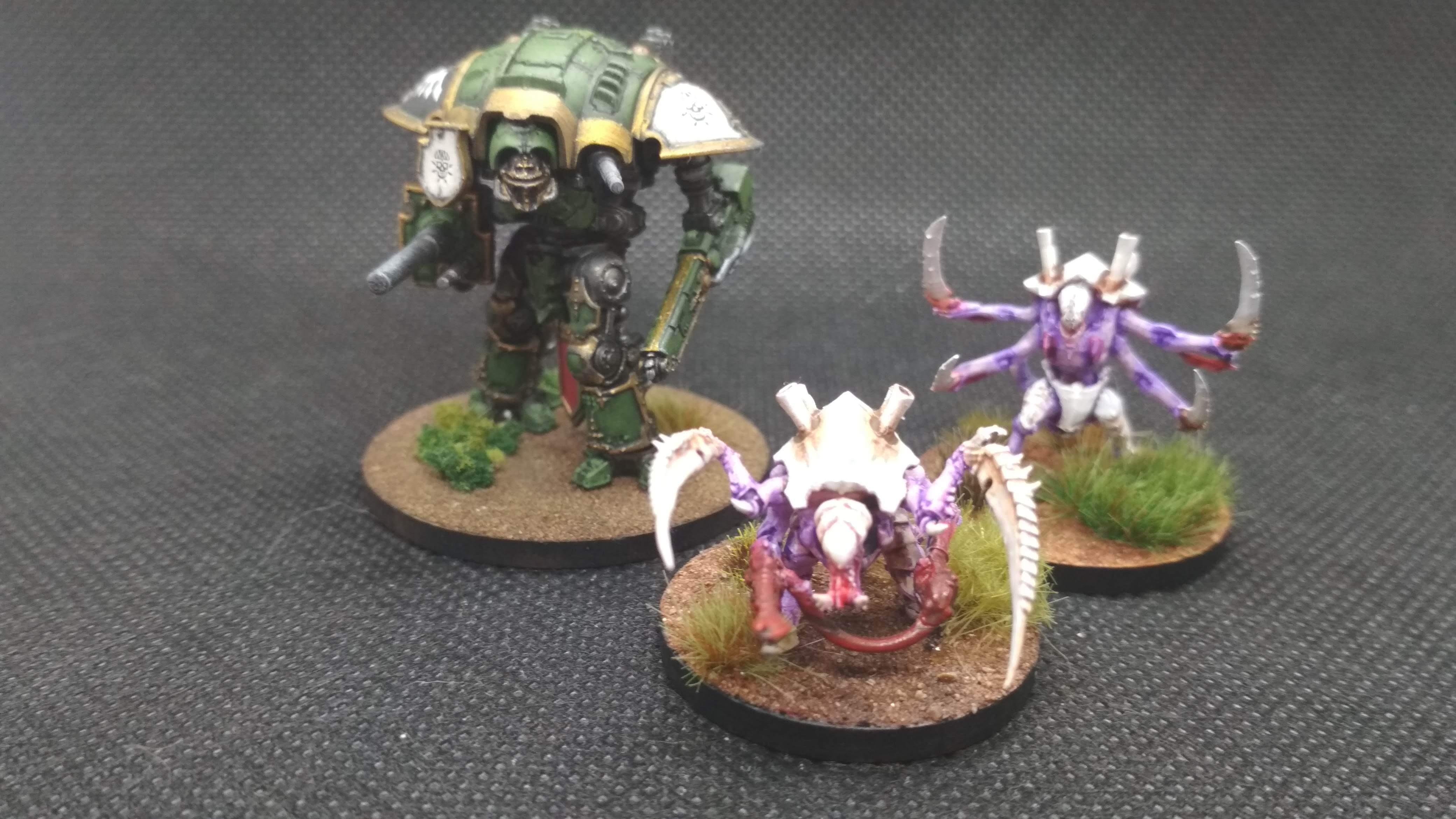 Adeptus titanicus carnifex hive tyrant imperial knight comparison