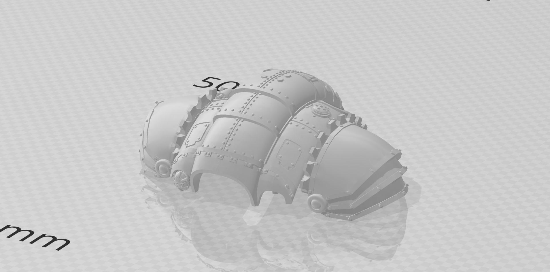 Magaera caparace 3d Adeptus Titanicus