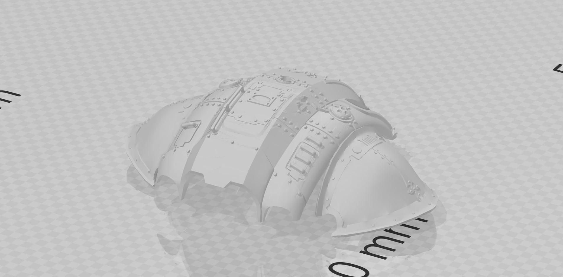 Questoris caparace 3D Adeptus titanicus