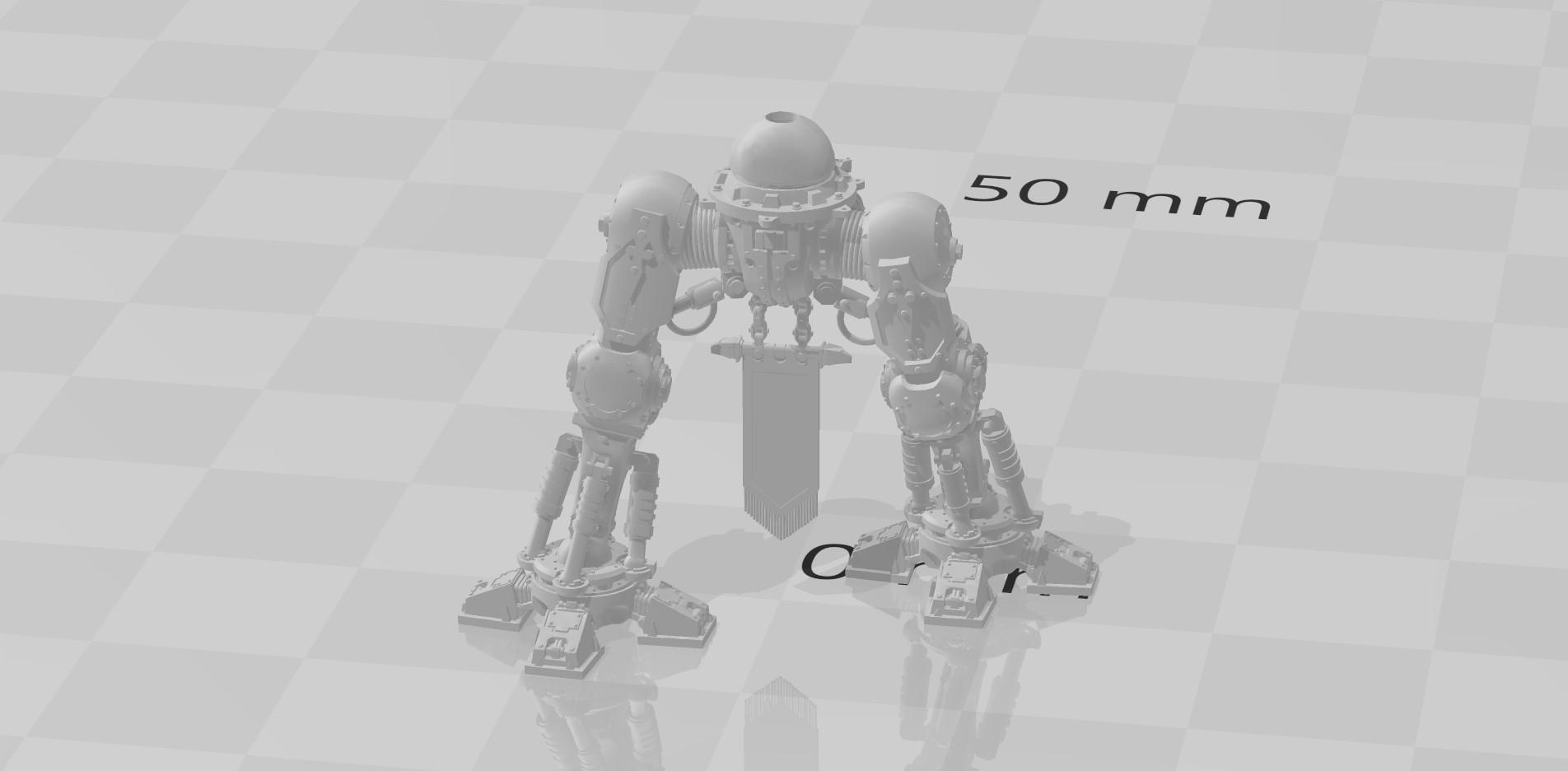 3d printed imperial knight legs Adeptus Titanicus