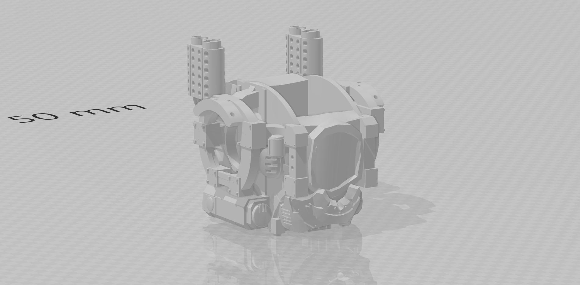 Adeptus Titanicus knight torso 3d