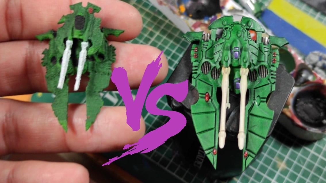 Epic Eldar PLA vs Resina